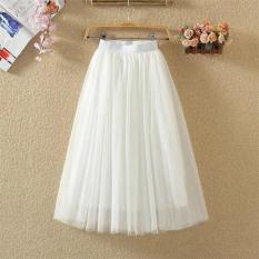 Chân váy dài phối lưới hai lớp siu dễ thương TTS0206