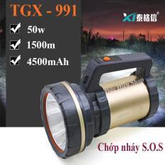 Đèn pin SIÊU SÁNG 50w kiêm sạc dự phòng TGX-991, đèn pin siêu sáng chống nước, đèn pin – Đức Hiếu Shop