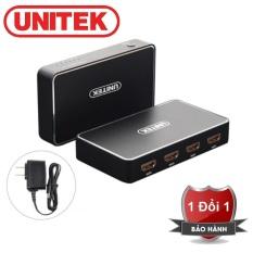 HDMI Splitter 1 in 4 out Unitek 109A – Bộ Chia HDMI 1 ra 4 cao cấp UNITEK V109A hỗ trợ độ phân giải 4K – Bộ chia HDMI Unitek 1 vào 4 ra hỗ trợ 4k V109A