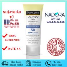 Kem Chống Nắng Neutrogena Sheer Zinc Face SPF 50 (59ml)