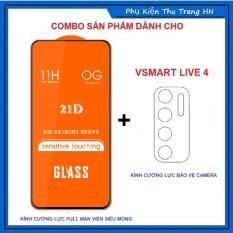 Vsmart Live 4 – COMBO Kính cường lực full màn hình + dán bảo vệ camera chống trầy xước bụi bẩn cho Vsmart Live 4