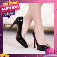 Giày búp bê cao gót bóng 9p XK-0007