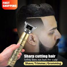 Tông đơ cắt tóc cạo râu có đầu cắm USB chuyên nghiệp cho nam Động cơ tốc độ cao Lưỡi dao độ cứng cao Salon tóc chuyên dùng Tông đơ thân màu vàng máy cạo râu nam kéo cắt tóc