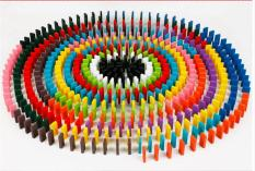 Bộ đồ chơi 500 quân domino bằng gỗ nhiều màu