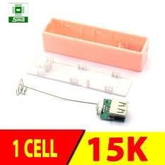 Box sạc dự phòng 1 cell vỏ nhựa