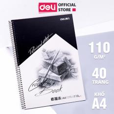Sổ vẽ phác thảo khổ A4/B5 Deli 40 trang – Giấy định lượng 100gsm / 110gsm – Gáy lò xo- 7696 / 7697 / 73632/ 7698