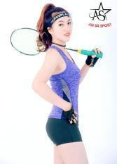 Bộ thể thao NỮ ngắn áo phối- DN6