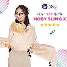 Địu vải Sling cho bé Hoby X – Địu vải cotton 100% dành cho trẻ sơ sinh – Thoáng khí, an toàn cho da bé [Hoby.vn]