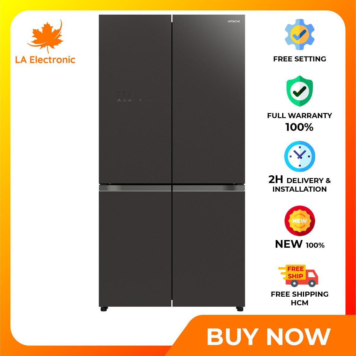 Trả Góp 0% – Tủ Lạnh Hitachi Inverter 569 lít R-WB640VGV0 (GMG) – Miễn phí vận chuyển HCM