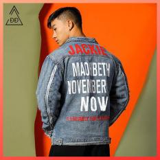 Áo khoác jean loang màu D818 shop Địch Địch chuyên áo khoác bò nam cực chất