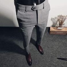 Quần âu nam màu xám tiêu đậm QT41, kiểu dáng Korean 2019, trang phục công sở, dã ngoại