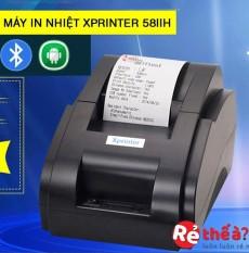 Máy in hóa đơn XPRINTER 58IIH – Hỗ trợ cài đặt- luôn tặng free 1 cuộn giây in – USB+ BLUTOOTH