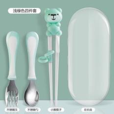 Sét đũa thìa dĩa inox Hàn Quốc cao cấp cho bé