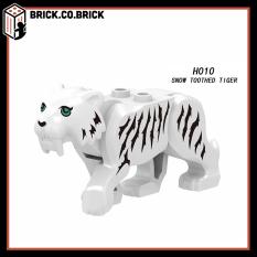 H010- Đồ chơi lắp ráp minifigure nhân vật lego, mini động vật rừng xanh hồ trắng – snow toothed tiger