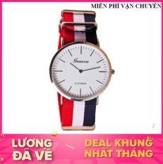 [HCM]Đồng hồ dây vải GENEVA cho nam nữ