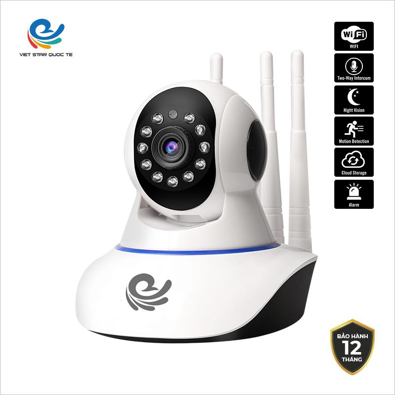 ( Tùy chọn kèm thẻ nhớ 128G ) Camera WiFi IP VIET STAR CC1021 2.0MP-Độ phân giả Full HD 1080P- Hồng ngoại ban đêm- Phát hiện chuyển động- Bảo hành 12 tháng CC1021