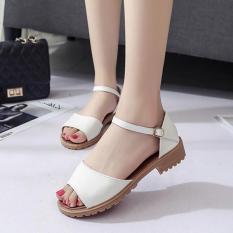 [Mẫu HOT⚡] Giày Sandal Nữ Da Mềm Gót Vuông 3,5CM 3Fashion shop – 2923