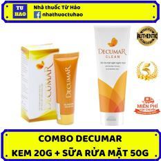 Bộ đôi trị mụn hiệu quả Decumar 20g – Decumar Clean 50g – kem trị mụn, kem trị thâm, kem nghệ decumar, sữa rửa mặt decumar clean