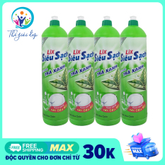 Bộ 4 chai Nước Rửa Chén Lix Siêu Sạch Trà Xanh 400G