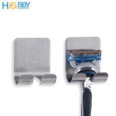 Combo 2 Móc Treo Dao Cạo Râu Inox SUS304 dán tường – Móc Inox dán tường treo đồ phòng tắm, nhà bếp tiện lợi – HOBBY PC1-2