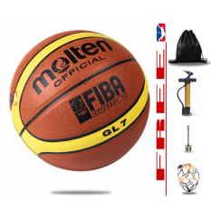 Bóng rổ da Molten GL7 – size 7 – Tặng bơm + Balo rút + Kim bơm và Túi lưới đựng bóng