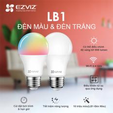 Bóng đèn EZVIZ LB1, Đèn Trắng Ngà hoặc Đèn màu (16 triệu màu), Kết nối WI-FI, Điều Khiển Từ Xa Qua Ứng Dụng Di Động, Cài đặt lịch trình & hẹn giờ, Tiết kiệm năng lượng–Hàng chính hãng–Bảo hành 1 năm