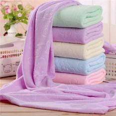 Khăn tắm xuất Nhật mềm mịn 140 x 70 cm ( giao màu ngẫu nhiên )