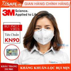 Khẩu trang y tế 3M 9001A Khẩu trang 3D 5 lớp kháng viruss, chống bụi mịn, phòng dịch, khẩu trang 3M vải không dệt chính hãng -[XSAFE]