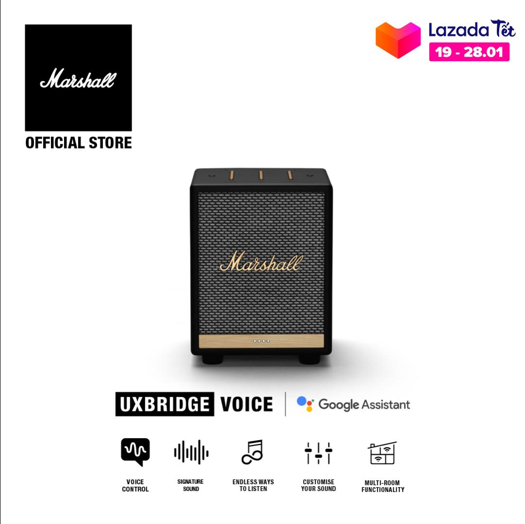 [VOUCHER 50K] [Hàng chính hãng] Loa Marshall Uxbridge kết hợp trợ lý ảo Google Assistant – Homeline – 1 năm bảo hành