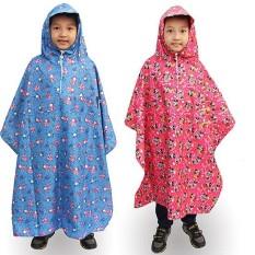 Áo Mưa Trẻ Em Vải Dù Cao Cấp Bít 2 Bên Từ 4-7 Tuổi – Nhiều Màu Sắc Dễ Thương.