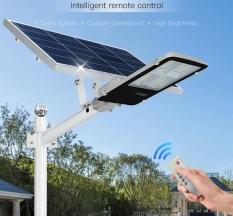 Đèn đường năng lượng mặt trời tấm pin rời 200W, Có remote, Có giá đỡ gắn đèn, BH 12 tháng, IP65 255
