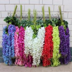 Hoa giả – 1 cành Hoa tử đằng cỡ lớn cao cấp 3 nhánh hoa đẹp quyến rũ trang trí nhà cửa, trang trí đám cưới, cổng vòm sự kiện
