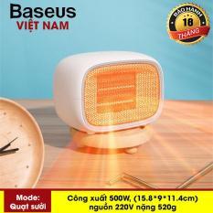 Máy sưởi ấm mini xách tay hoặc để bàn đa năng công suất 500W dùng cho gia đình hoặc văn phòng nhỏ thương hiệu Baseus Warm Fan – Phân phối bởi Baseus Vietnam