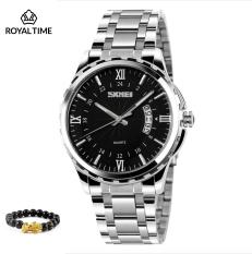 Đồng hồ nam SKMEI dây thép chống gỉ cao cấp SK9069.03 – Fullbox – Tặng gói bảo hành 12 tháng – tặng vòng tay phong thủy cao cấp – gói hàng cẩn thận đúng mẫu