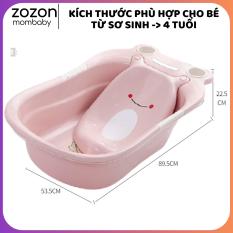 Chậu tắm cho bé, thau tắm cho trẻ sơ sinh – 5 tuổi hình ếch nhựa PP an toàn chống trượt Zozon phân phối