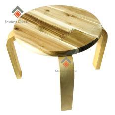Ghế gỗ tràm tròn – ghế đôn cafe phong cách