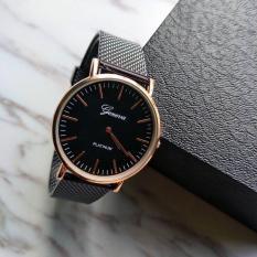 Đồng hồ nam dây lưới cao cấp Geneva DHR120 mẫu Kanzy kiểu dáng sang trọng