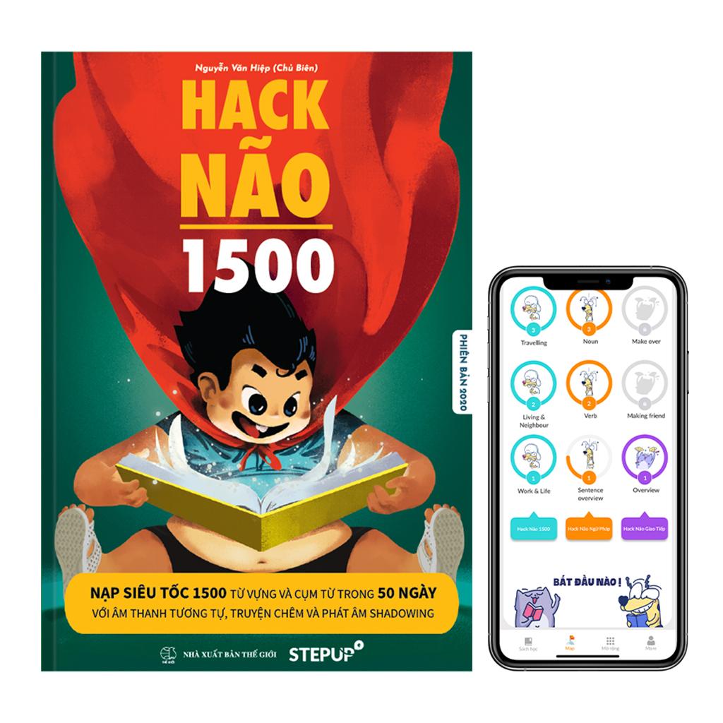 Hack Não 1500 - sách học từ vựng tiếng Anh theo chủ đề, đi kèm App dạy phát âm của...