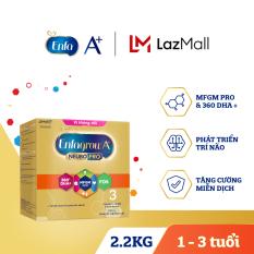 Sữa bột Enfagrow A+ Neuropro 3 cho trẻ từ 1-3 tuổi (2.2kg – hộp 4 túi thiếc 550g)
