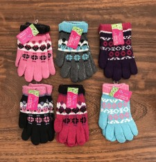 Combo 6 đôi găng tay len, họa tiết thổ cẩm, dành cho nữ , ảnh thật , bảo đảm giao đúng hàng