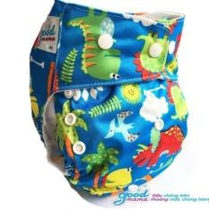 Bỉm vải ban đêm cao cấp Goodmama cho bé từ 3-20 kg (lót xơ tre kháng khuẩn 6 lớp, chống trào) GD17