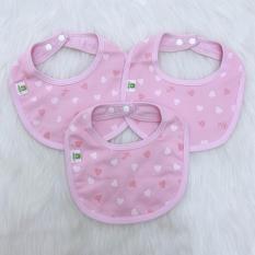 Bộ 3 yếm tròn bấm cúc Mipbi cotton cao cấp cho bé