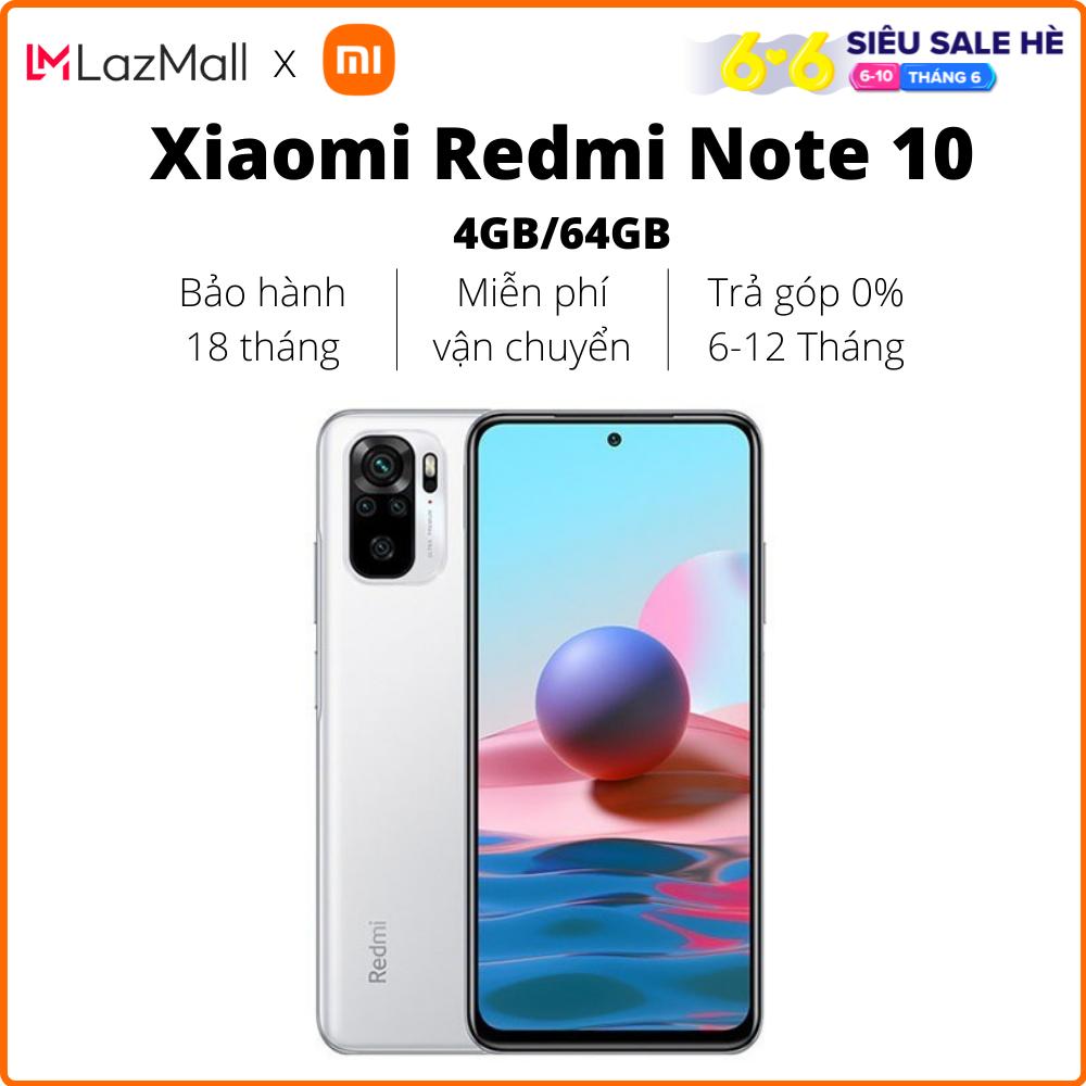 Điện thoại Xiaomi Redmi Note 10 (4GB/64GB) – Hàng chính hãng DGW – Bảo hành 18 tháng – Trả góp 0%