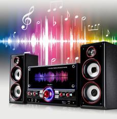 [ÂM THANH TUYỆT HẢO] Combo Trọn Bộ Dàn Loa Vi Tính HYUNDAI 3187,Bộ Loa Nghe Nhạc 2.1, RMS 50W HUYNDAI 3187 Gía Rẻ , Âm Thanh Siêu Trầm , Stereo, Chuẩn Và Hay, Tiếng Bass Nghe Chắc,Êm Tai,Hỗ Trợ Bluetooth,USB,TF,Jack 3.5mm,Loa Karaoke GiaĐình
