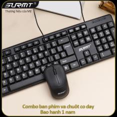 Bàn phím chuột có dây băng tần 1200DPI dùng được cho mọi hệ điều hành bàn phím dùng cho làm việc tại nhà văn phòng bảo hanh 1 năm 8236 bộ bàn phím chuột có dây