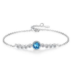 Vòng Tay Nữ Đính Đá Đơn Giản – Vòng Tay Bạc Nữ Trơn Dày Dặn L2574 – Bảo Ngọc Jewelry