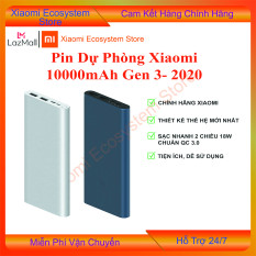 Pin sạc dự phòng Xiaomi 10000mAh gen 3 bản sạc nhanh 2019, sản phẩm được hỗ trợ bảo hành 6 tháng tại shop