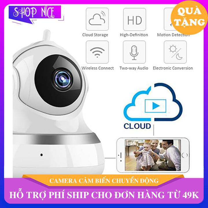 Camera wifi cảm biến chuyển động HD 720P 2 râu hỗ trợ thẻ nhớ lên đến 64gb ghi được đến 16 ngày ShopNice – EL64