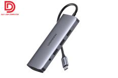 Ugreen 80133 – Hub USB Type C 10 in 1 tích hợp HDMI, VGA, 3.5mm, Lan, USB, Đọc Thẻ, Sạc USB C PD