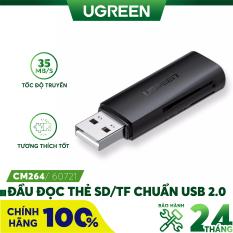 [Nhập ELMAY21 giảm thêm 10% đơn từ 99k] Đầu đọc thẻ SD/TF chuẩn USB 2.0 UGREEN CM264 60721 – Hãng phân phối chính thức